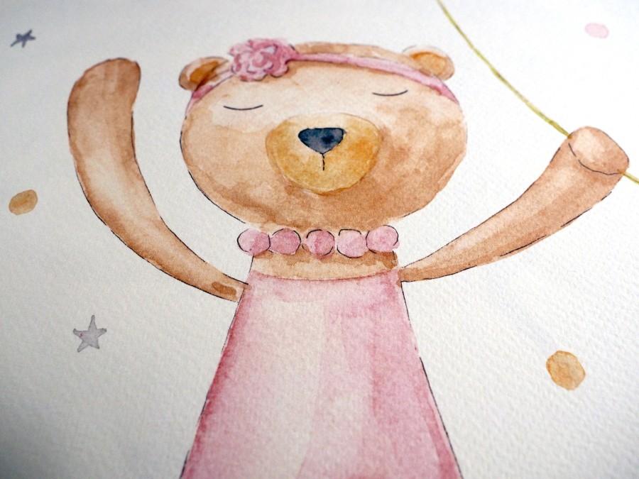 Vaikų kambario paveikslas Meškutė Balerina